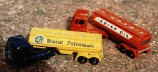 Indian toy tankers based on 1950s British moulds