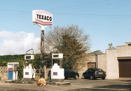 A small Northern Irish Texaco station carrying the 1970s logo