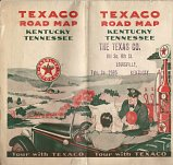 1929 Texaco map of Kentucky Tennessee