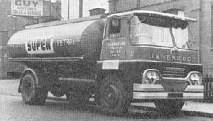 1966 photo of a Guy Warrior tanker in Isherwoods colours