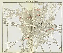 ca1930 Shell map of Muenchen