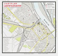 1935 Shell map of Ludwigshafen