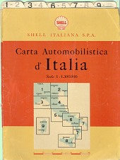 ca1950 Shell card map set of Italy