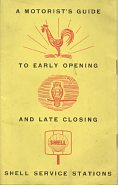 1959 Motorist's Guide to Early Opening and Late Closing Shell Service Stations