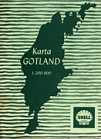1963 Shell map of Gotland