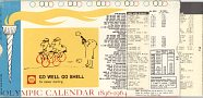 Olympic Calendar 1896-1964 from Shell