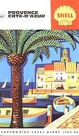 1965 Shell Map of Cote d'Azur