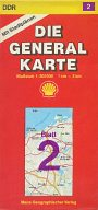 1990 Shell Die Generale Karte section 2 of East Germany