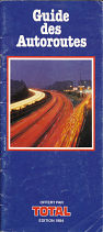 1984 Total strip map booklet of French autoroutes