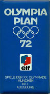 Elf branded map wallet for 1972 Munich Olympics