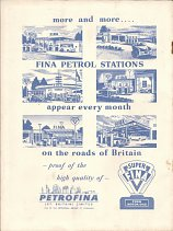 Rear cover from ca1955 Fina Road Atlas