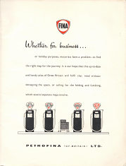 Frontispiece from 1958 Fina motoring atlas of Great Britain