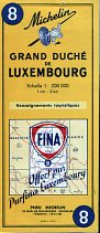 1958 Fina map of Luxembourg