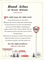 Frontispiece from 1960 Fina motoring atlas of Great Britain