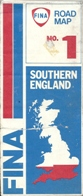 1981 Fina sectional map of Southern England